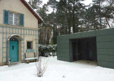 Haus der Wannseekonferenz   WC-Gebäude als mobile Lösung